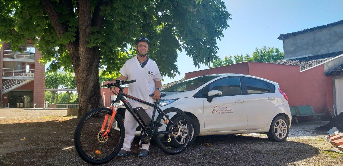 Vélo électrique au SSIAD